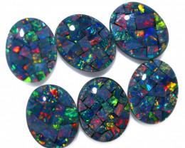 10 Cts Parcel 6 Australian Opal Triplet Mosaic  FO 1514