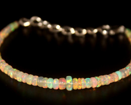 17.15 Crts Natural Ethiopian Welo Opal Beads Bracelet 21
