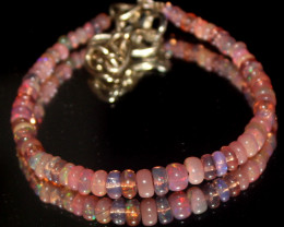 15 Crts Natural Welo Smoked Opal Beads Bracelet 747