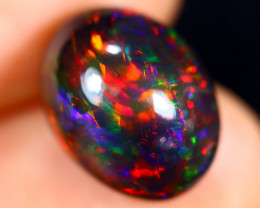 5.44cts Natural Ethiopian Welo Smoked Opal / HM2734