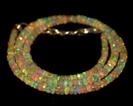 36 Crts Natural Welo Faceted Opal Beads Necklace 349