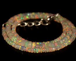 34.45 Crts Natural Welo Faceted Opal Beads Necklace 346