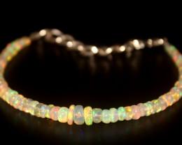 17.25 Crts Natural Ethiopian Welo Opal Beads Bracelet 24