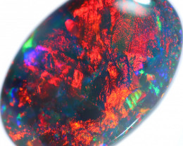 3.72 CTS BLACK OPAL STONE-FROM LIGHTNING RIDGE - [PC6]