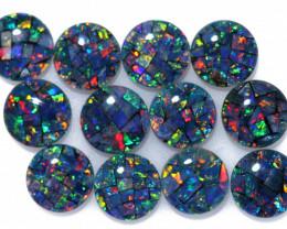 6 Cts Parcel12 Australian Opal Triplet Mosaic  6x6mm FO 1595