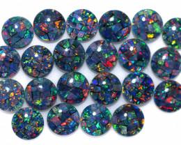 11 Cts Parcel 22 Australian Opal Triplet Mosaic  6x6mm FO 1601