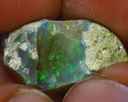 9.10Ct Multi Color Play Ethiopian Welo Opal Rough H0415/R2