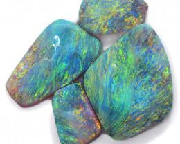 32.05cts 4 Pieces Black Opal Rough/Rub Pre-Shaped PARCEL - S1585