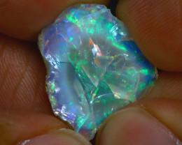10.14Ct Multi Color Play Ethiopian Welo Opal Rough GN05/R2