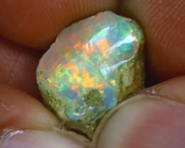 9.66Ct Multi Color Play Ethiopian Welo Opal Rough GN10/R2