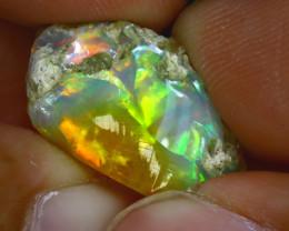 12.30Ct Multi Color Play Ethiopian Welo Opal Rough GN16/R2