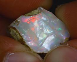 14.17Ct Multi Color Play Ethiopian Welo Opal Rough GN20/R2