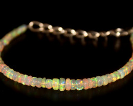 17.25 Crts Natural Ethiopian Welo Opal Beads Bracelet 27