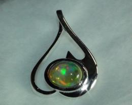 Opal Sterling Silver Pendant *