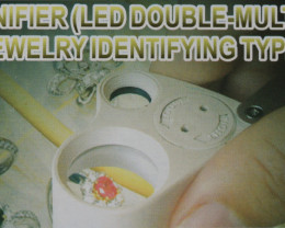 Opal Magnifier- Two Lens - With LED lights [34590]