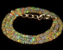 33.40 Crts Natural Welo Faceted Opal Beads Necklace 299