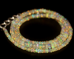 38.80 Crts Natural Welo Opal Beads Necklace 586