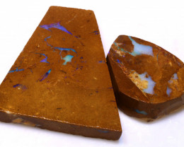 81.10cts Boulder Pipe Opal Prefinished Rubs ADO-9295 - adopals