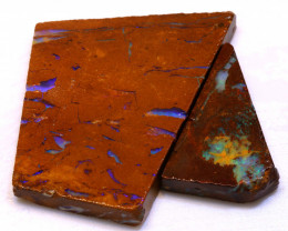 88.90cts Boulder Pipe Opal Prefinished Rubs ADO-9296 - adopals