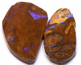 106.10cts Boulder Pipe Opal Prefinished Rubs ADO-9299 - adopals