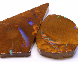 120.90cts Boulder Pipe Opal Prefinished Rubs ADO-9304 - adopals