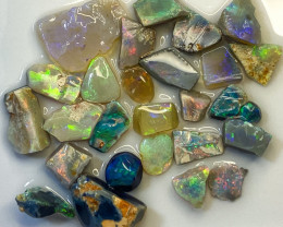 77.90 ct Opal Rough Lot Black Opals Lightning Ridge BORA030521
