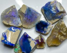 130.80 ct Opal Rough Lot Black Opals Practice Cutting BORB030521
