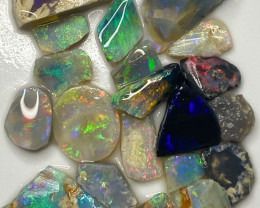 62.40 ct Opal Rough Lot Black Opals Lightning Ridge BORC030521