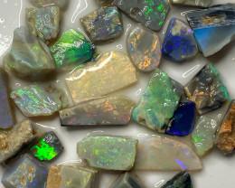 82.00 ct Opal Rough Lot Black Opals Lightning Ridge BORD030521