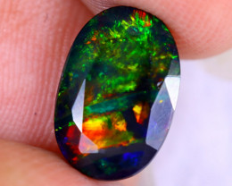 1.78cts Natural Ethiopian Welo Faceted Smoked Opal / NY2849