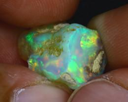 8.36Ct Multi Color Play Ethiopian Welo Opal Rough GN38/R2