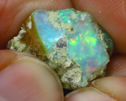 8.36Ct Multi Color Play Ethiopian Welo Opal Rough H0614/R2