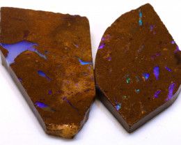 127cts Boulder Pipe Opal Prefinished Rubs  ADO-9397 - adopals
