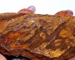 454.10 cts Yowah Opal Rough Slice D-38-daviddarbyopals