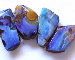 19.83 Carats Boulder Opal Pre Shaped Rough Parcel  ANO-2264