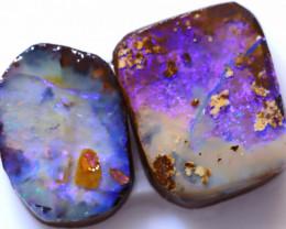 17.54 Carats Boulder Opal Pre Shaped Rough Parcel  ANO-2265