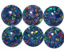 5 Cts Parcel 6 Australian Opal Triplet Mosaic  7x7mm FO 1605