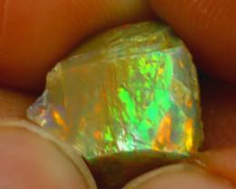 5.37Ct Multi Color Play Ethiopian Welo Opal Rough J0701/R2
