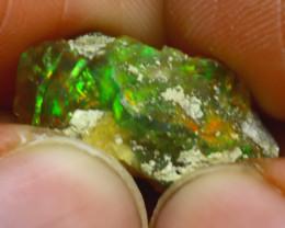 11.82Ct Multi Color Play Ethiopian Welo Opal Rough J0702/R2