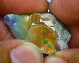 13.56Ct Multi Color Play Ethiopian Welo Opal Rough J0703/R2