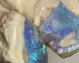 Untouched Super Bright Dark Crystal Rough Nobby Opals #1894