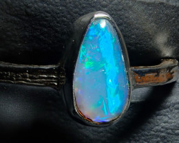 6.25size Ethiopian Wello Opal Ring Natural .925 Silver
