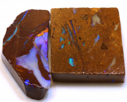 72cts Boulder Pipe Opal Prefinished Rubs  ADO-9438 - adopals