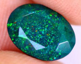 2.07cts Natural Ethiopian Welo Faceted Smoked Opal / NY2862