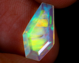 1.43cts Natural Ethiopian Coffin Cut Double Faceted Welo Opal / NY2865