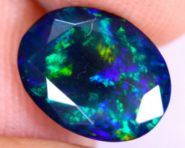 1.92cts Natural Ethiopian Welo Faceted Smoked Opal / NY2875