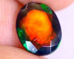 1.25cts Natural Ethiopian Welo Faceted Smoked Opal / NY2891