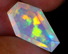 2.79cts Natural Ethiopian Coffin Cut Double Faceted Welo Opal / NY2907