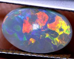 N6- 1.15  cts dark opal stone lightning ridge  TBO-A3533  TRUEBLUEOPALS