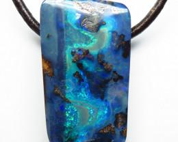 52.90ct Drilled Australian Boulder Opal Pendant